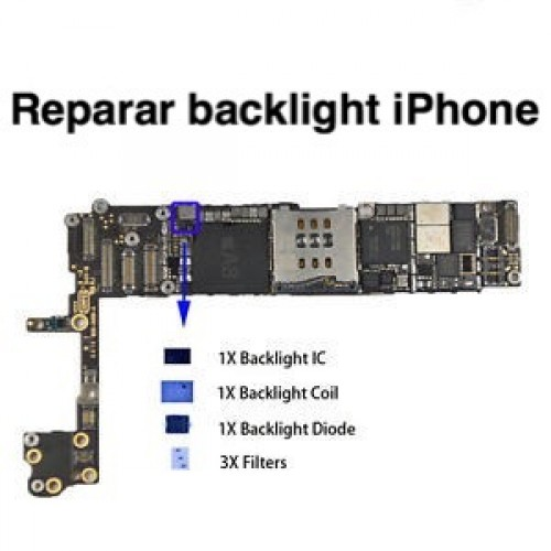 Reparar backlight iPhone - Reparar Placa Base iPhone Reparaciones en placa base